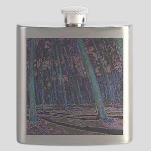 Magic forest purple blue Flask