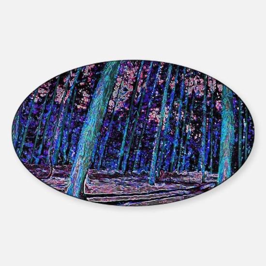 Magic forest purple 2 Sticker (Oval)