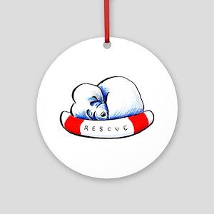 Maltese Rescue Ornament (Round)