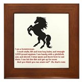 Horse lovers Framed Tiles