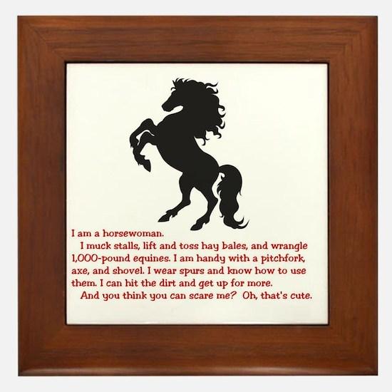 I am a horsewoman ... I can  ...  Framed Tile