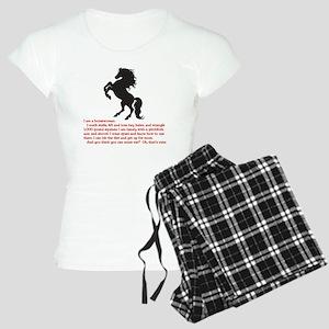 I am a horsewoman ... I can Women's Light Pajamas