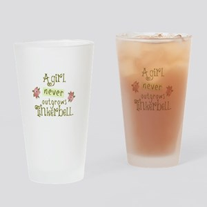 a girl never outgrows Tinkerbell Drinking Glass