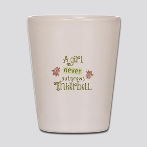 a girl never outgrows Tinkerbell Shot Glass
