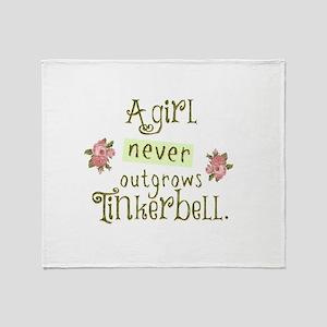 a girl never outgrows Tinkerbell Throw Blanket