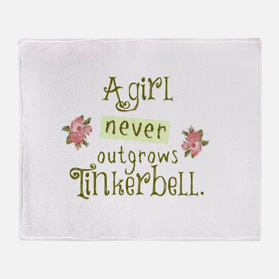 a girl never outgrows Tinkerbell Throw Blanket