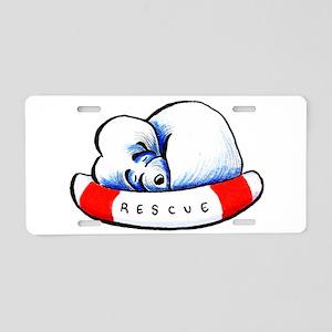 Maltese Rescue Aluminum License Plate
