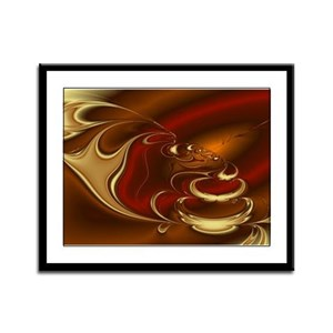 Latte Framed Panel Print