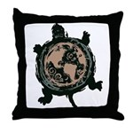 Turtle Earth Throw Pillow