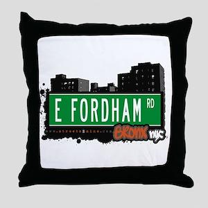 E Fordham Rd, Bronx, NYC Throw Pillow