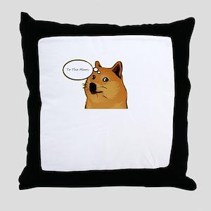 tothemoondoggie Throw Pillow