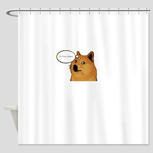 tothemoondoggie Shower Curtain