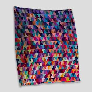 Triangles Burlap Throw Pillow