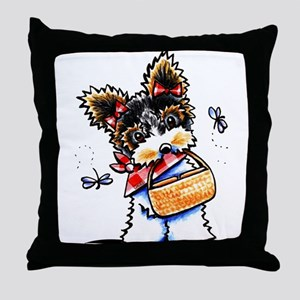 Biewer Yorkie Picnic Throw Pillow
