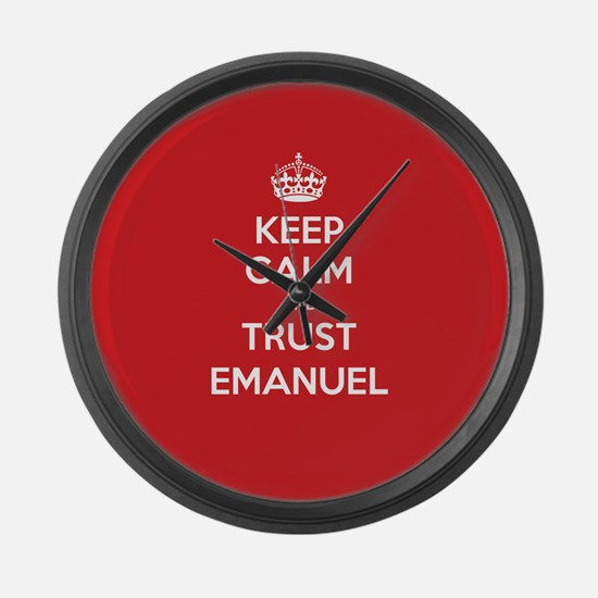 Trust Emanuel Large Wall Clock