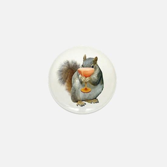 Squirrel Drink Mini Button
