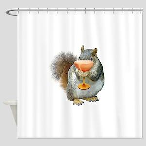 Squirrel Drink Shower Curtain