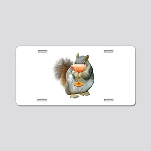Squirrel Drink Aluminum License Plate