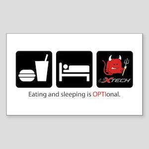 Eat Sleep Optional Sticker