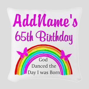 LOVING GOD 65TH Woven Throw Pillow