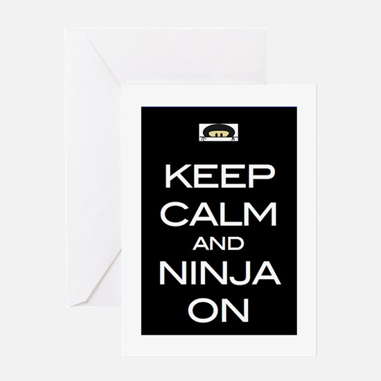 Keep Calm! And Ninja On Greeting Cards