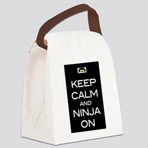 Keep Calm! And Ninja On Canvas Lunch Bag