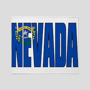Nevada Flag Throw Blanket