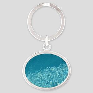 Crystal clear Oval Keychain
