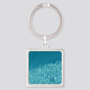 Crystal clear Square Keychain