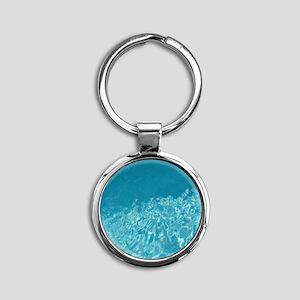 Crystal clear Round Keychain