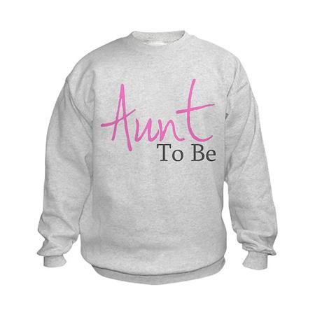 Aunt To Be (Pink Script) Kids Sweatshirt
