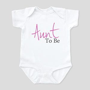 Aunt To Be (Pink Script) Infant Bodysuit