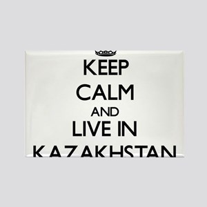 Keep Calm and Live In Kazakhstan Magnets