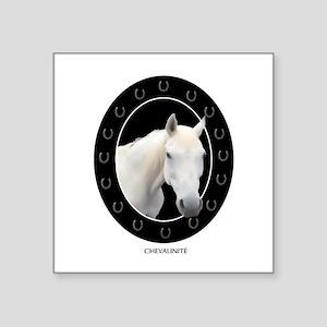 """Horse Theme Design #41000 Square Sticker 3"""" x 3"""""""
