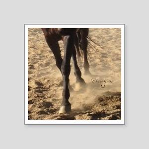 """Horse Theme Design #40000 Square Sticker 3"""" x 3"""""""