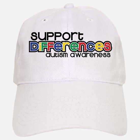 Support Differences - Autism Awareness Baseball Ca