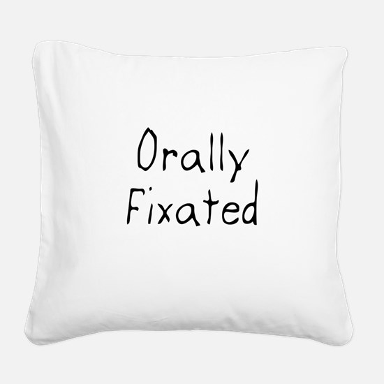 Orally Fixated Square Canvas Pillow