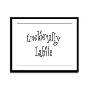 Emotionally Labile Framed Panel Print