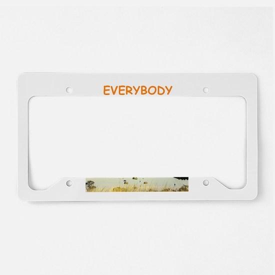 sky diving License Plate Holder