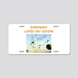 sky diving Aluminum License Plate