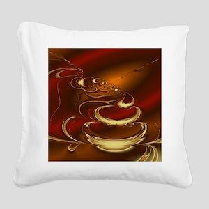 Latte Square Canvas Pillow