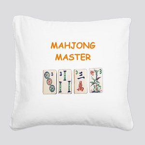 MAHJONG Square Canvas Pillow