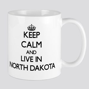 Keep Calm and Live In North Dakota Mugs