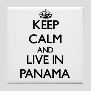 Keep Calm and Live In Panama Tile Coaster