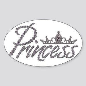 Diamond Princess and Tiara Sticker (Oval)