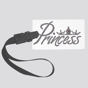 Diamond Princess and Tiara Large Luggage Tag