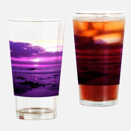 Purple Sunset Drinking Glass
