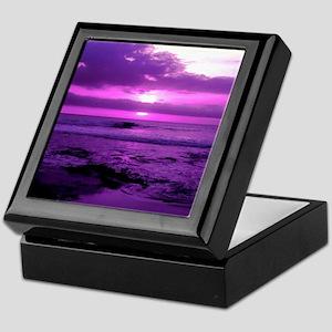 Purple Sunset Keepsake Box