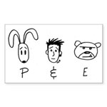 P 'n E Rectangle Sticker