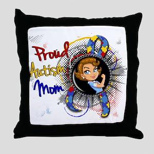 Autism Rosie Cartoon 1.1 Throw Pillow